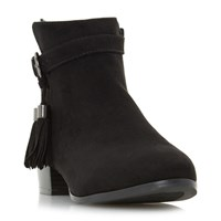 Head Over Heels Patrice Tassle Ankle Boots Black