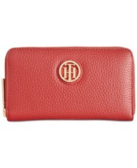 Tommy Hilfiger Lucky Charm Pebble Leather Medium Zip Around Wallet