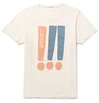 Nudie Jeans Printed Organic Cotton Jersey T Shirt Neutrals