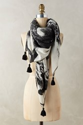 Anthropologie Blurry Wool Scarf Black