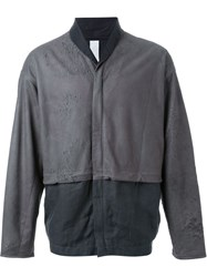 Isabel Benenato Bomber Jacket Grey