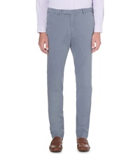 Ralph Lauren Hudson Stretch Cotton Trousers Blueberry