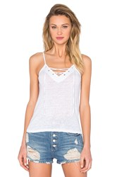 Monrow Lace Up Cami White