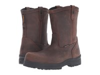 Carolina Waterproof Composite Toe Wellington Dark Brown Men's Work Boots