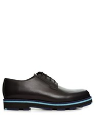 Valentino Leather Derby Shoes Black Multi