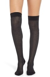 Treasure And Bond Chunky Knit Over The Knee Socks Black