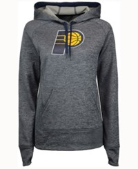 Adidas Women's Indiana Pacers Logo Pullover Hooded Sweatshirt Heather Navy