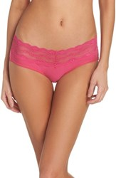 B.Tempt'd By Wacoal B. Adorable Hipster Panties Pink Peacock