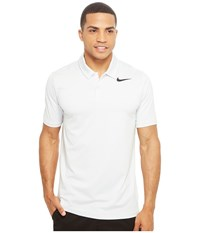 Nike Mobility Control Stripe Polo White Black Men's Short Sleeve Pullover