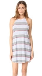 Sundry High Neck Tank Dress White