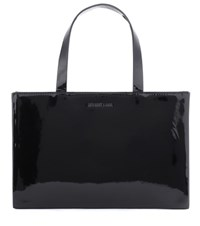 Helmut Lang 2000 Patent Leather Tote Black