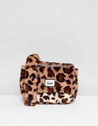 Stradivarius Leopard Faux Fur X Body Multi