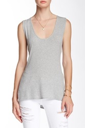 Riller And Fount Terry Slit Side Cutout Back Tank Gray