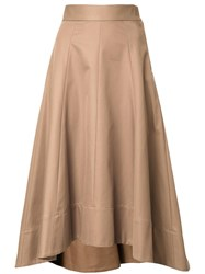 Le Ciel Bleu 'Train' Long Skirt Brown