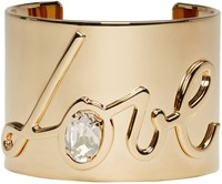 Lanvin Gold Love Cuff