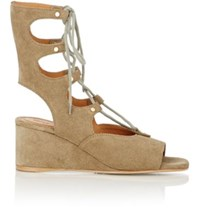 Chloe Women's Foster Gladiator Wedge Sandals Green Size 6.5