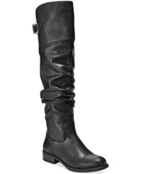 White Mountain Lacona Tall Boots Women's Shoes Black