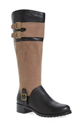 Bella Vita Women's 'Adriann Ii' Riding Boot Black Taupe Faux Leather