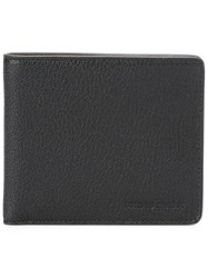 Tomas Maier Embossed Logo Billfold Wallet Black