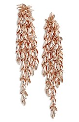 Stella Ruby Dramatic Cascade Earrings Rose Gold