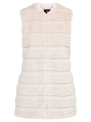 Ted Baker Jeana Textured Faux Fur Gilet Straw