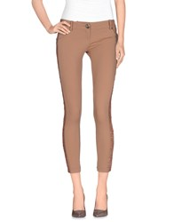 Elisabetta Franchi Gold Trousers 3 4 Length Trousers Women Light Brown