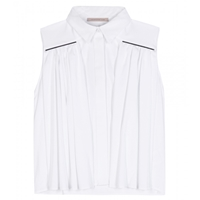 Christopher Kane Sleeveless Cotton Blouse White