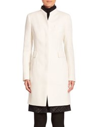 Akris Punto Wool Blazer Coat Cream Black
