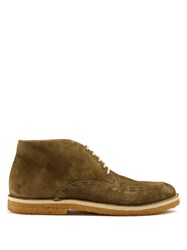 Armando Cabral Chukka Suede Ankle Boots Khaki