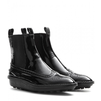 Balenciaga Patent Leather Ankle Boots Noir
