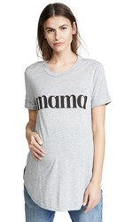 Ingrid And Isabel Printed Mama Tee Athletic Heather
