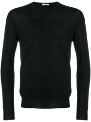 Paolo Pecora Crew Neck Pullover Wool M Black
