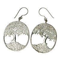 House Of Alaia Tree Of Life Filigree Earrings Oxidized Sterling Silver