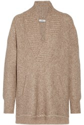 Vince Chevron Knit Sweater Sand