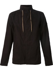 Robert Geller High Neck Sports Jacket Black