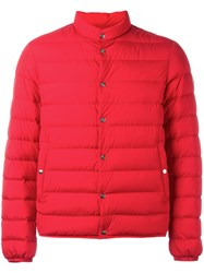 Moncler Quilted Down Jacket Red