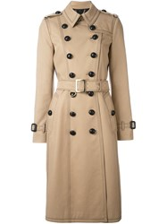 Burberry 'The Kensington' Long Heritage Trench Coat Nude And Neutrals