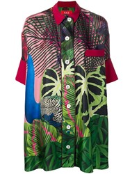 F.R.S For Restless Sleepers Tropical Print Shirt Green