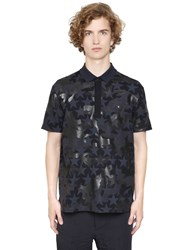 Valentino Camo Stars Cotton Piquet Polo Shirt