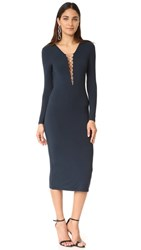 Alexander Wang T By Lace Up Dress Navy
