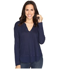 Sanctuary Faraday Henley Top Marine Women's Clothing Blue