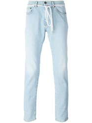 Off White Light Wash Jeans Blue