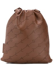 Stella Mccartney Monogram Mini Backpack Brown