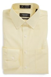 Nordstrom Smartcare Tm Traditional Fit Stripe Dress Shirt Yellow