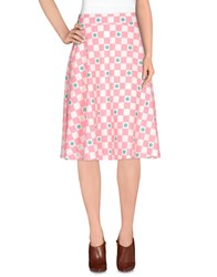 Cutie Skirts 3 4 Length Skirts Women Pink