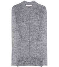 Christopher Kane Metallic Knitted Sweater Silver
