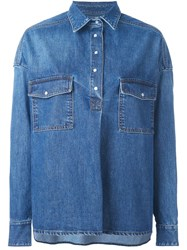 Each X Other Loose Fit Denim Shirt Blue