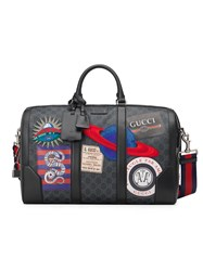 Gucci Night Courrier Soft Gg Supreme Carry On Duffle Black