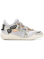 Lanvin Mid Top Diving Sneakers White