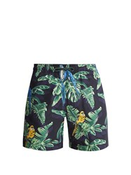 Stella Mccartney Parrot Print Swim Shorts Black Multi